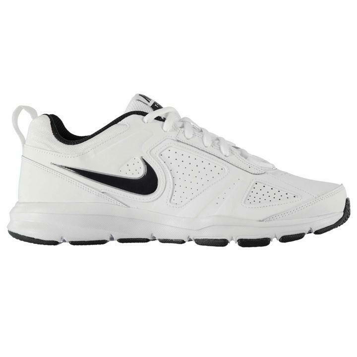 Nike Mens T Lite Trainers, Nike TLite Sports Leathe Trainers - Weiß - Größe 6-14