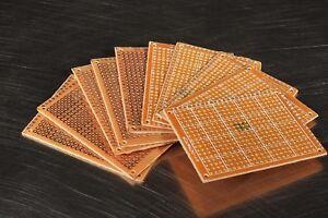 10 Pcs 7x5cm Prototyping Perf PCB Printed Circuit Breadboard Arduino Solder
