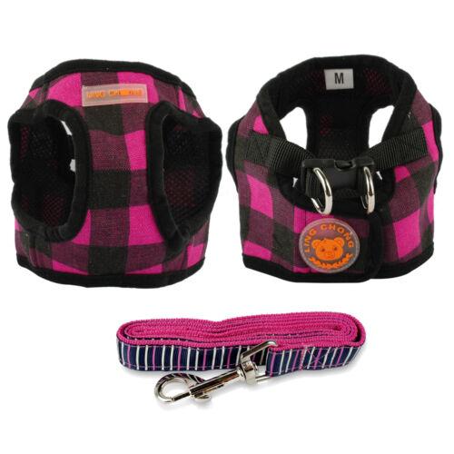 Cute Small Pet Dog Cat Puppy Chihuahua Vest Harness Lead Leash Set Pink S M L XL
