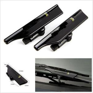 2 Pcs Black Car Vehicle Windshield Wiper Blade Spoiler Protector