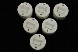 6 Serienschalter Aufputz DDR Schalter weiß rund
