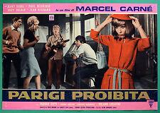 T52 FOTOBUSTA PARIGI PROIBITA MARCEL CARNE' DANY SAVAL PAUL MAURISSE DELAIR 1