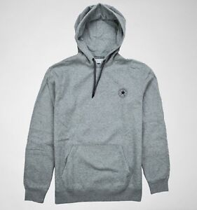 Image is loading CONVERSE-mens-logo-plain-pullover-hoodie-sweatshirt-GREY- fc191d98125f