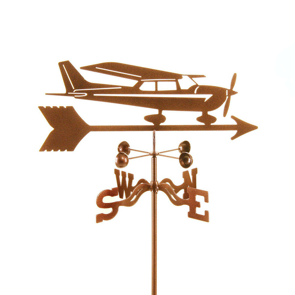 Cessna Airplane Weathervane - Hi Wing, High Wing Plane Vane with Choice of Mount