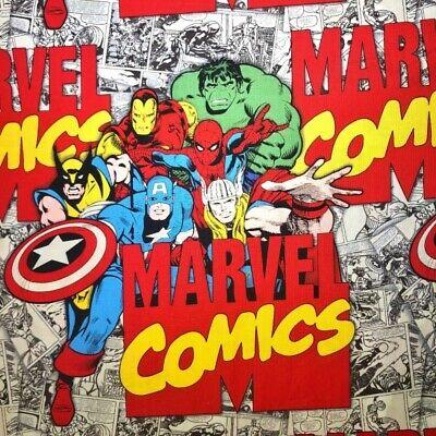MARVEL FABRIC COMIC SUPERHERO WOLVERINE COTTON HULK CAPTAIN AMERICA By The Yard