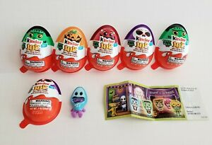 *** Kinder Joy Egg - Halloween 2020 - Glow-in-the-Dark Treat Toy - Lot of 6 ***