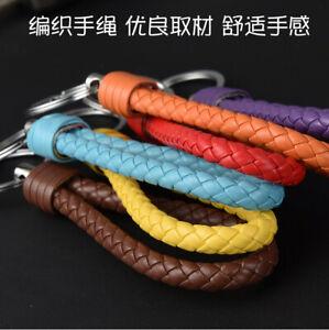 Keyring-Loop-Key-Ring-Faux-Leather-Strap-Keychain-Car-Key-Chain-Ring-Key-Fob-NEW