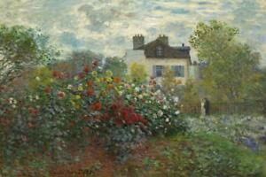 Claude-Monet-Artists-Garden-at-Argenteuil-Art-Print-inch-Poster-24x36-inch