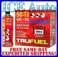 6 Pack Trufuel 6525638 50:1 Preblended 2-cycle Fuel Outdoor Power Equipment 32oz