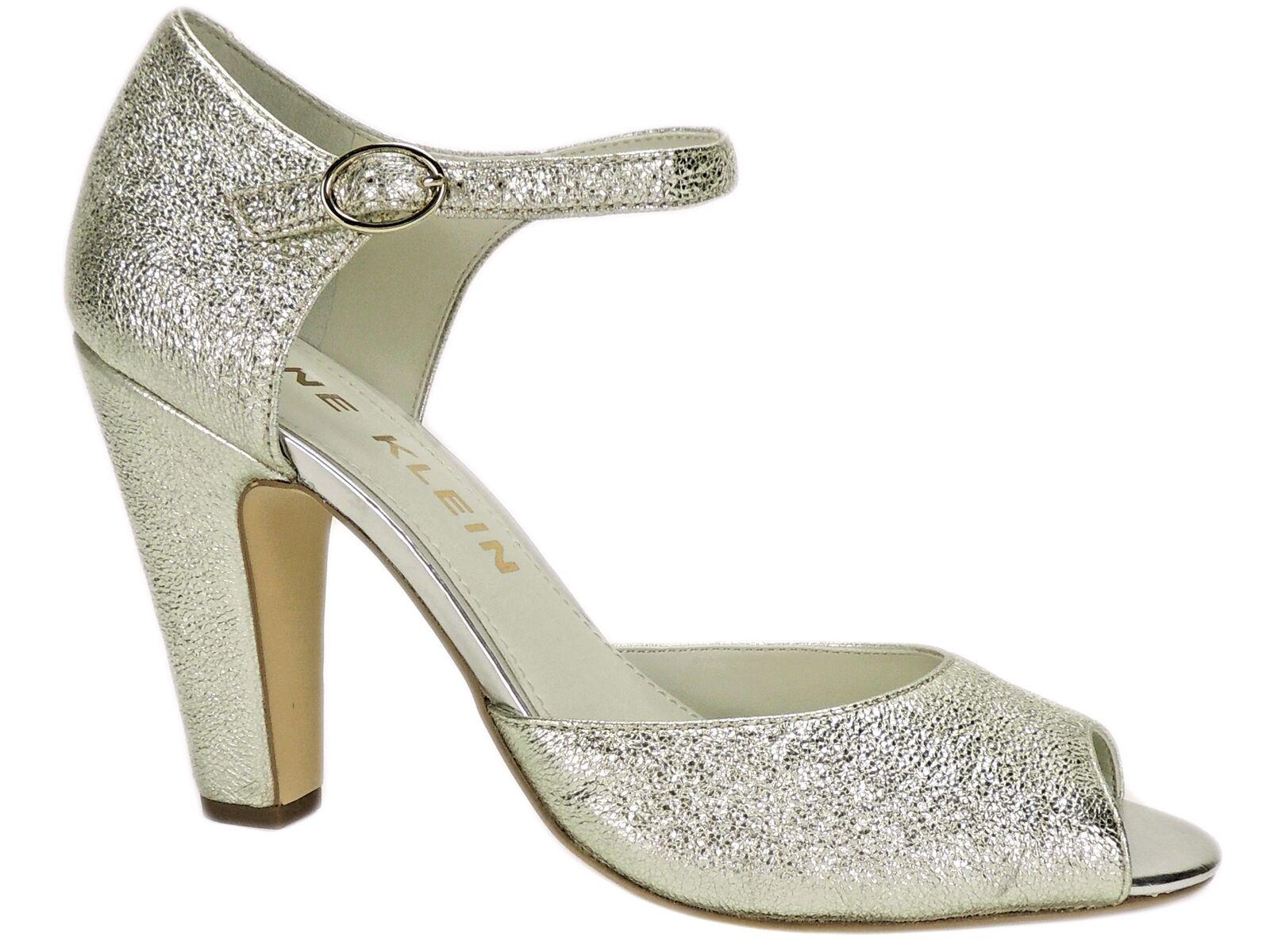 Anne Klein Women's Henrika Peep-Toe Pumps Light Gold Size 10 M