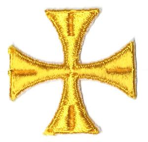 Liturgico-Cuadrado-Cruz-para-Vestment-Bordado-2-034-para-Coser-Oro-k-Emblema-12-PC
