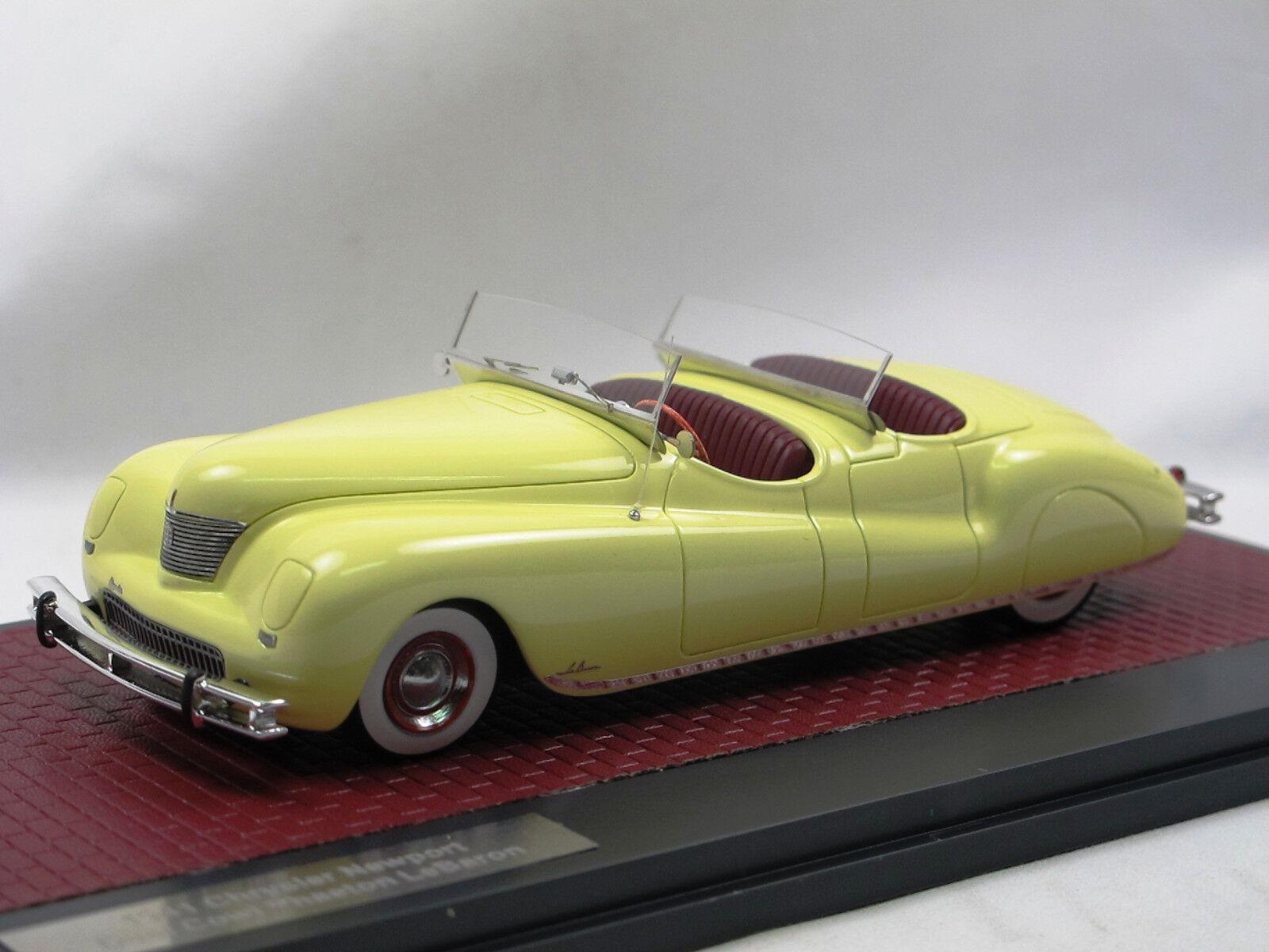 Matriz 1941 Chrysler Newport dual Cowl Phaeton LeBaron amarillo 1 43 Limited 240