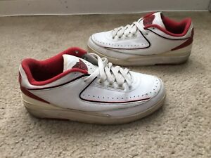 new style b5919 ae855 Details about Men's Nike Air Jordan 2 Low White Varsity Red Size 7.5