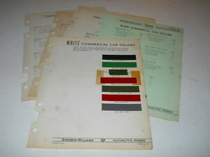 Details About 1937 1941 White Commercial Car Paint Color Chips Chart Sherwin Williams