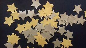 60 Streuteile Stanzteile Streu Sterne Tischdeko Weihnachten Gold