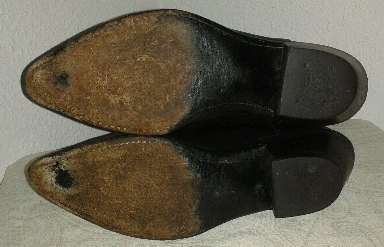 Justin Damens's schwarz Leder cowboy/western cowboy/western cowboy/western Stiefel Sice 6 1/2 B cf3aae