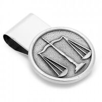 Pewter Scales Of Justice Money Clip Lawyer Duty Honor Free Shipping
