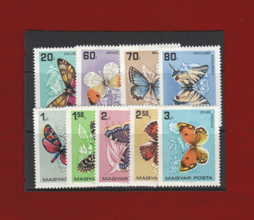 1966 Hungary Butterflies SG 215058 Set of 9 MUH