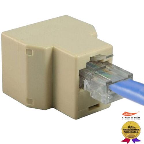 RJ45 Splitter Adapter 1 to 2 Dual Female Port CAT 5e//6//7 LAN Ethernet Convertor