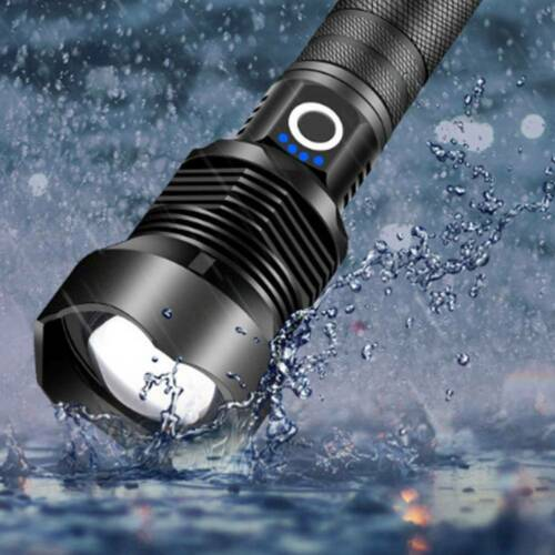90000 Lumens xhp70.2 LED Zoomable USB Rechargeable Camping Flashlight Torch