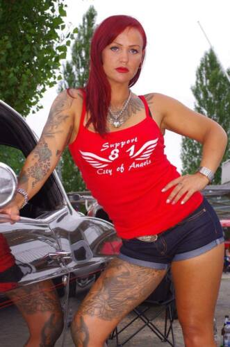 "Hells Angels Support Girlie Top /""CITY OF ANGELS/"" Original 81 Support"
