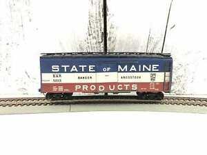 Vintage-HO-Bangor-amp-Aroostoock-State-of-Maine-Box-Car-1950-039-s-Athearn-5205