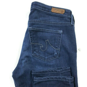 AG-Adriano-Goldschmied-Womens-29-The-Stilt-Cigarette-Leg-Dark-Wash-Blue-Jeans