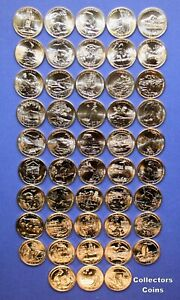 All 102 Quarters-10 PD sets 2009 through 2018 P//D Quarters From Mint Sets