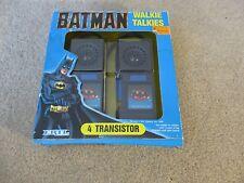 ERTL Batman Walkie Talkies 2 Pack 4 Transistor 1989 MIB See My Store