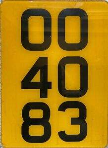 GENUINE-British-UK-Reflective-Acrylic-Rear-Number-License-Licence-Plate-OO-4083