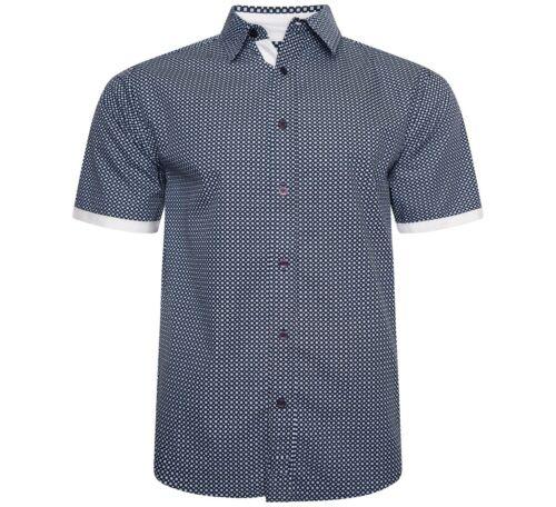 Mens Designer Short Sleeve Stylish Cotton All Over Print Summer Casual Shirt Top
