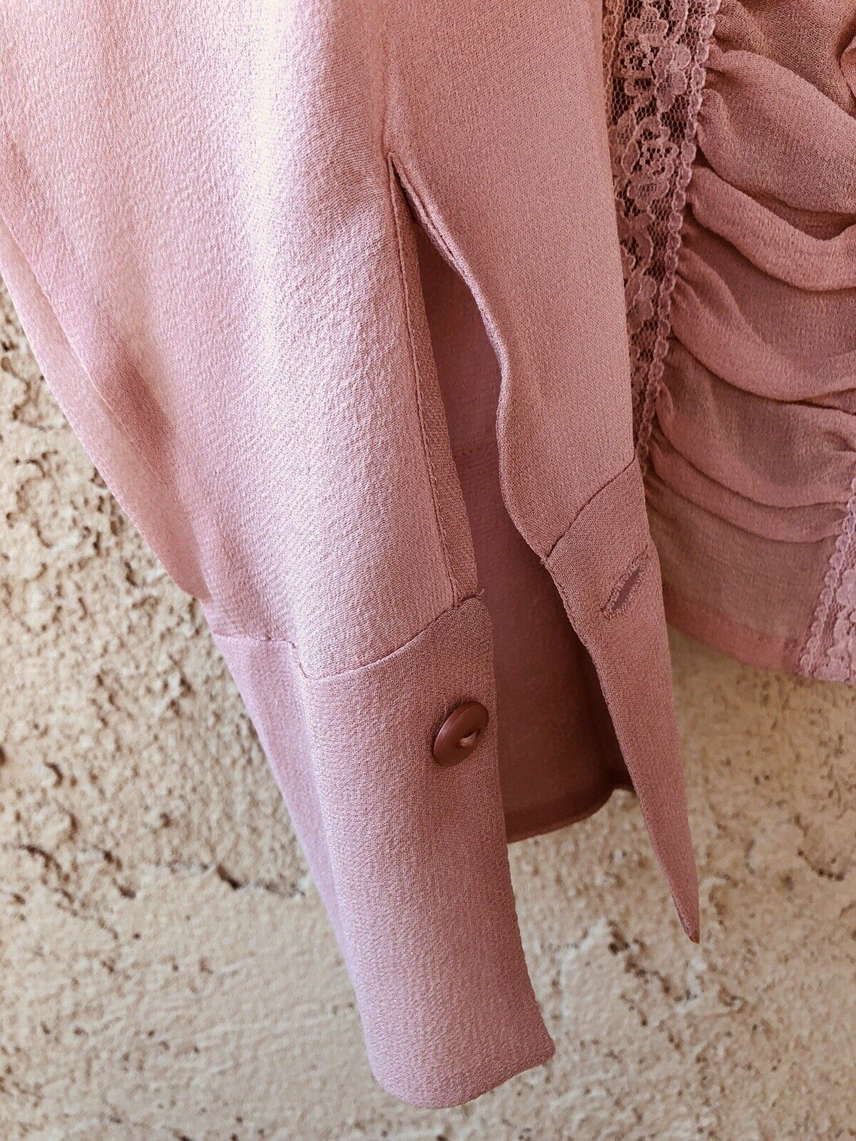 Vintage Stunning Jones Wear Silk Sheer Dusty Lila… - image 6