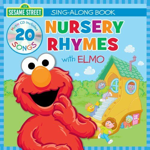 Sesame Street Nursery Rhymes With Elmo Sing Along Book 20 Song Cd Ebay