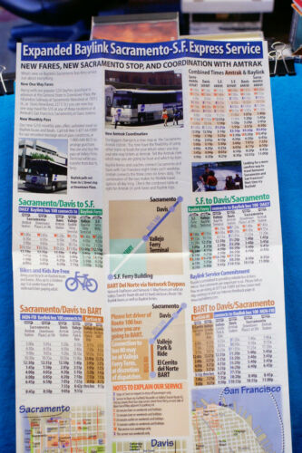 Baylink Network Timetable 5//17//99 Bus /& Ferry to San Francisco