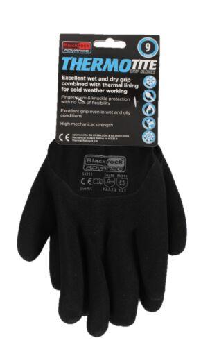 54311 12 x Blackrock Advance Thermotite Thermal Winter Safety Grip Work Gloves