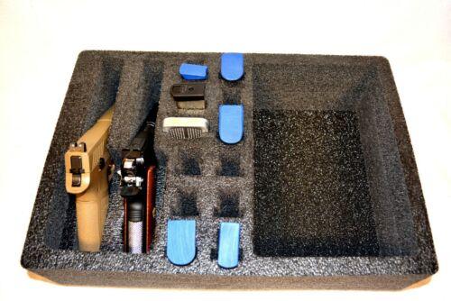 Pelican 1500 2 pistol handgun foam Range insert kit fits your case+nameplate
