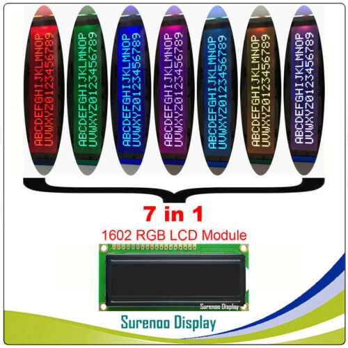 7 Mode RGB Backlight FSTN Negative Mode 162 16X2 1602 Character LCD Module LCM