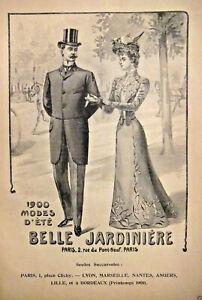 PUBLICITE-DE-PRESSE-1900-BELLE-JARDINIERE-ETE-1900-GRANDE-MAISON-DE-VETEMENTS