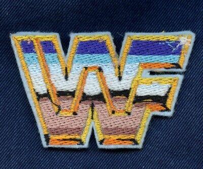 Wrestlemania WWF Classic Logo Iron-On Patch WWE Hulk Hogan Macho Man Bret Hart