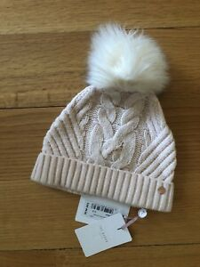 NEW WITH TAGS  Ted Baker Lisabet Cable Knitted Hat with Pom Pom  9040231235f5