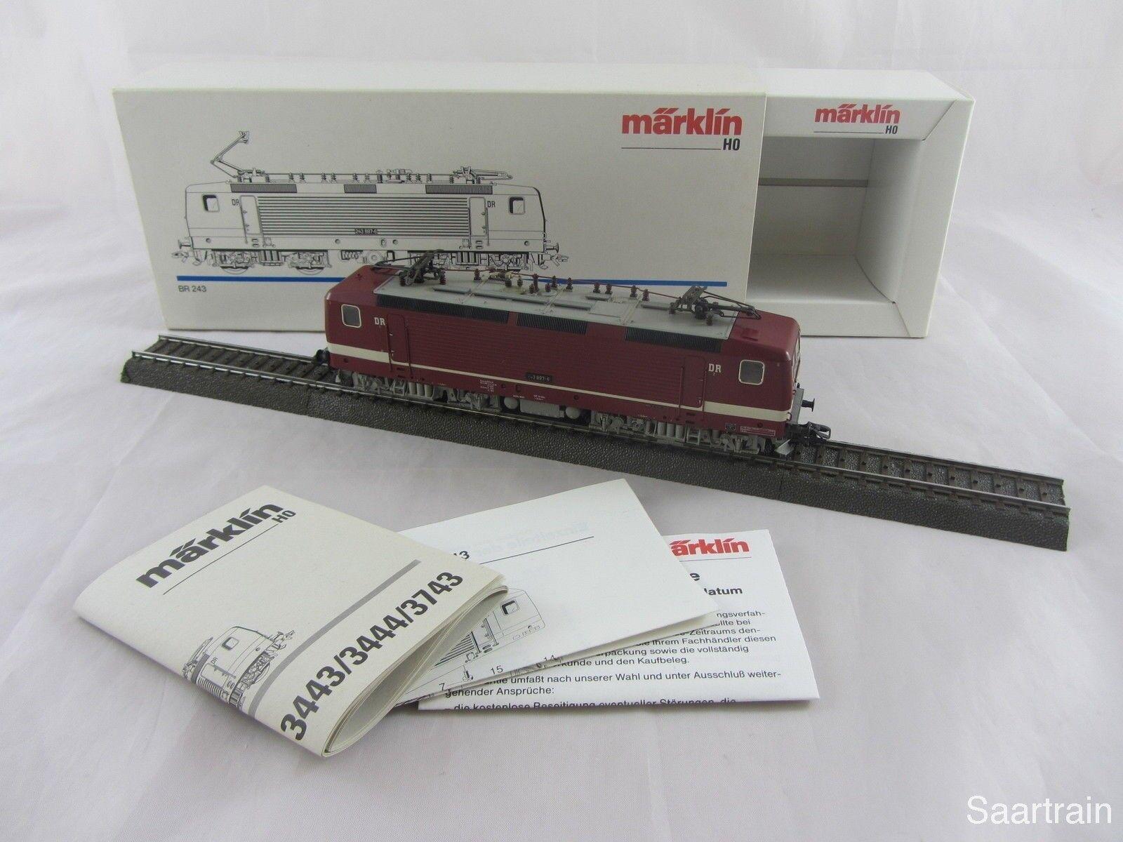 Märklin 3443 serie 243 897 6 de la Dr en rosso muy buen estado y con embalaje original