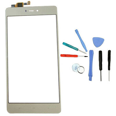 """Gold Touch Display Screen Digitizer Glass + Free Tool For Xiaomi Mi 4S 5"""" 4G LTE"""
