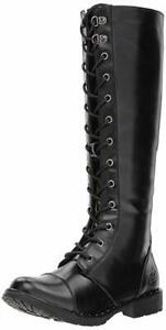 Dirty-Laundry-Roset-Tall-Combat-Womens-Boots-Black-7-5-M-New-in-Box