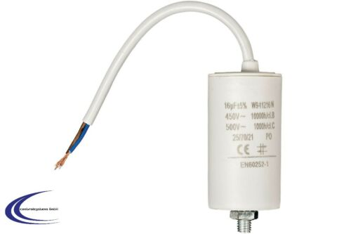 450 v Condensateur 16 µF avec câble Moteur Condensateur Démarrage Condensateur 16 uF