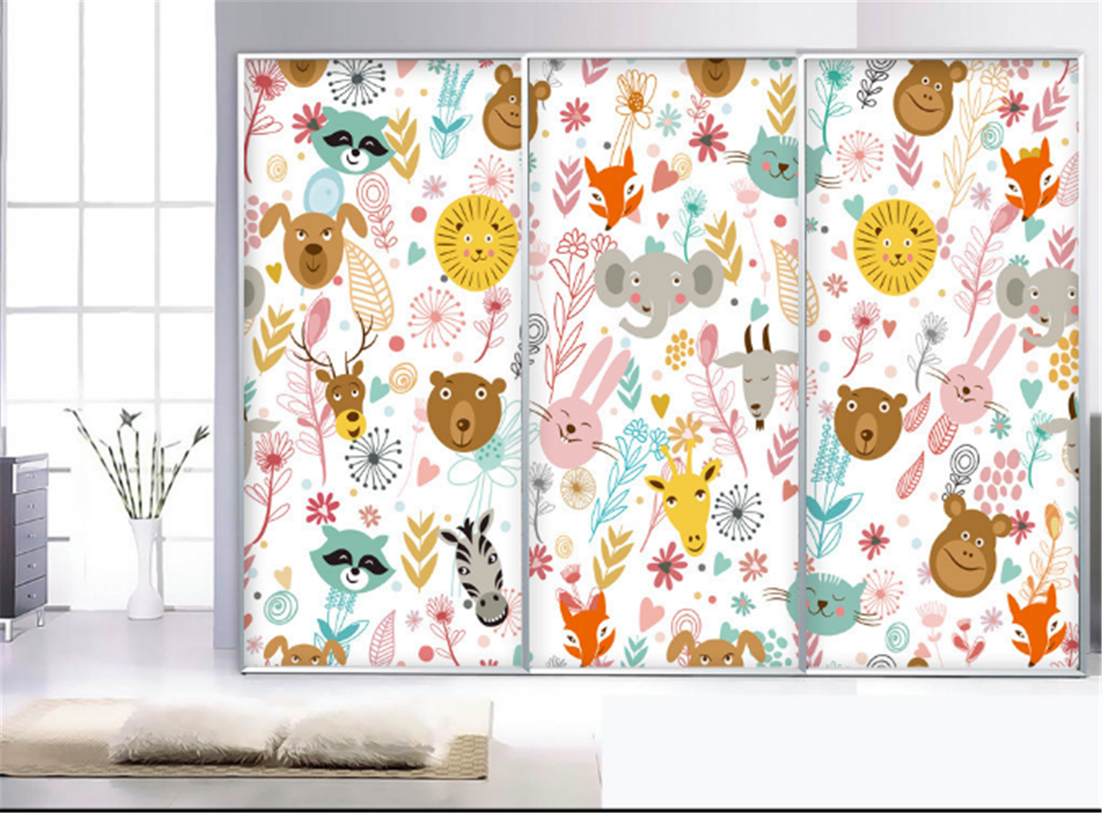 3D Cartoon Animal 623 Wallpaper Mural Paper Wall Print Wallpaper Murals UK Carly