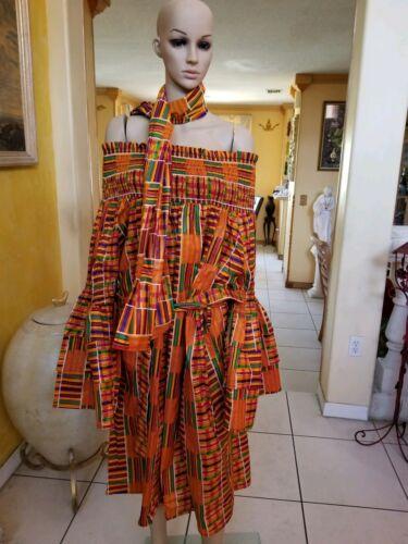 AFRICAN KANTI WOMEN OFF SHOULDER DRESS