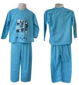Pyjama-Garcon-Taille-6-8-ans-Interieur-pilou-Coloris-au-choix-selon-les-tailles