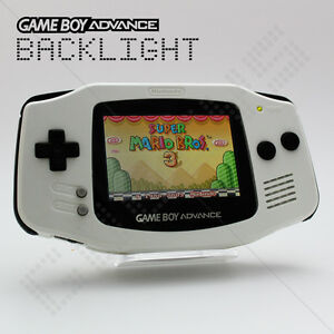 White-Backlit-Screen-Nintendo-Game-Boy-Advance-GBA-AGS-101-Backlight-Console