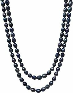 Stunning 6-7mm Rice Shape Freshwater Pearl Necklace for Women