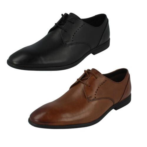 Cordones Punta Clarks Zapatos Estrecha Con Cuero Encaje De Hombre Bampton YwOxqfIngg